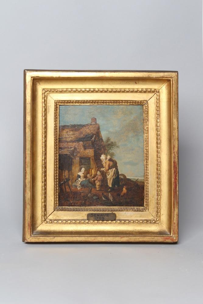 Senave xviii me pendant d 39 huile sur toiles antiquaire for Antiquaire lille meuble