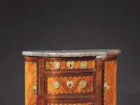 Commode demi lune Louis XVI - Lapie