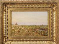 Marie François FIRMIN - Huile sur toile - Les moutons au champs