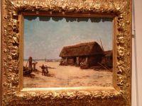 MARIANI - Huile sur toile - Les pêcheurs sur la plage