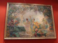 GERVAIS - Huile sur toile - Nymphe à la cueillette des fruits - XIX-XXème