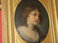 Portrait dans le gout de greuze - Huile sur panneau