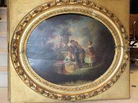 Pierre JONANILLE - Médaillons huile sur panneau - XIXème