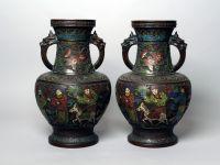 Vase en bronze et cloisonné Japon - XIXème