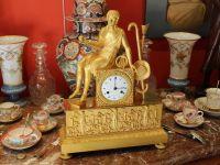 Cronier AINE - Pendule PARIS en bronze empire doré
