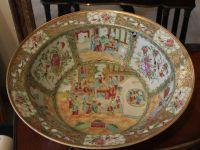 Coupe en porcelaine de canton - XIXème