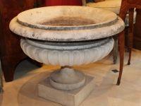 Vasque medicis en marbre blanc - XIXème