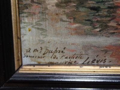 Maurice LEVIS - Huile sur toile - Vue d'un bassin d'Ostende - XIX-XXème