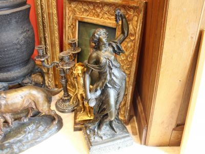 Clodion Claude MICHEL - BACCHANTE bronze à patine