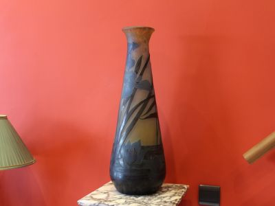 Grand vase Gallé aux Nénuphars et Iris